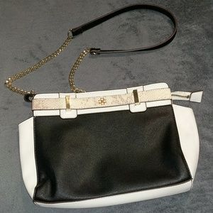 Ann Taylor Crossbody Black White